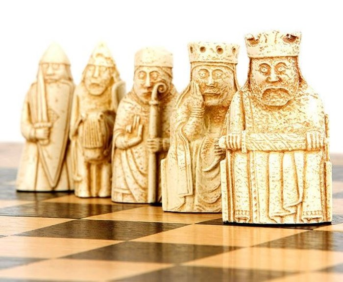 Lewis chessmen on sale in the National Museums Scotland shop